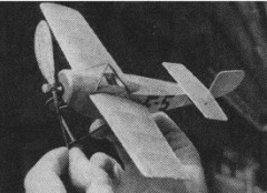 Ponnier D.III model airplane plan