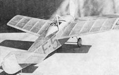 Ponnier model airplane plan