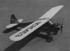 Porterfield CP-65 model airplane plan