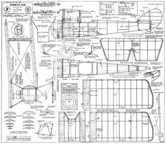 Sopwith PupSpan model airplane plan