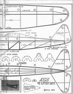 Pursuit No.F56 16in model airplane plan