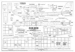 Push Moth, 34in model airplane plan