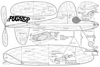 Pusher model airplane plan