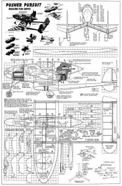 Pusher Pursuit 24in model airplane plan