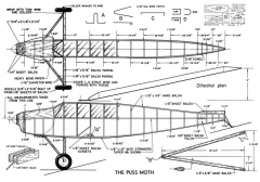 Puss Moth, DeHaviland , 48in (Lanzo) model airplane plan