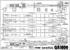QB 1800 model airplane plan