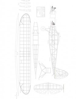 Quaker Too 84in model airplane plan