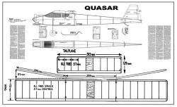 Quasar, 47in (120cm) model airplane plan