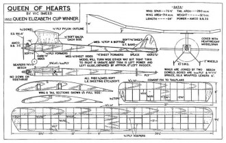 Queen of Hearts, 76.5in (195cm) model airplane plan