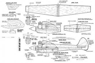 Quickie Trainer C/L Speed model airplane plan