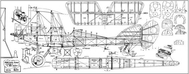 RAF B.E. 2e model airplane plan