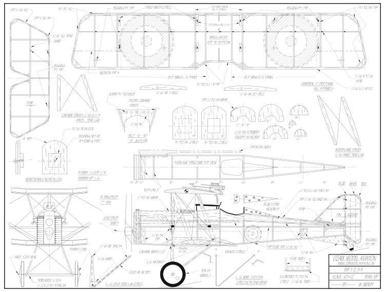 RAF S.E. 5A Peanut model airplane plan