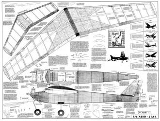 RC Aero Star model airplane plan