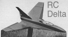 RC Delta model airplane plan