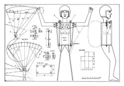 RC Parachutist model airplane plan