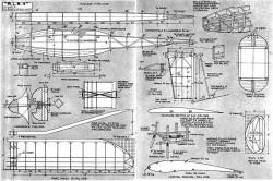 RLB4 Rubber Duration model airplane plan