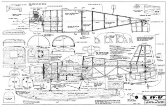 RV-6F model airplane plan