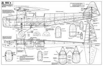 RWD-8 model airplane plan