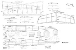 Rambler model airplane plan