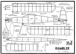 Rambler model airplane plan
