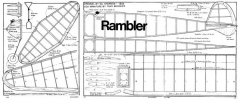 Rambler 1938 model airplane plan