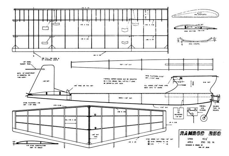 Ramrod 250 model airplane plan