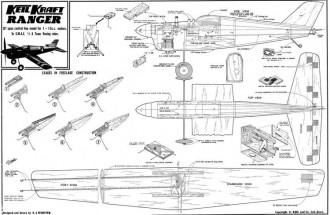 Ranger, Keil Kraft, 26in model airplane plan