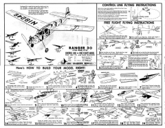 Ranger 30 Instructions model airplane plan