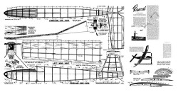 Rascal 1948 Wakefield model airplane plan