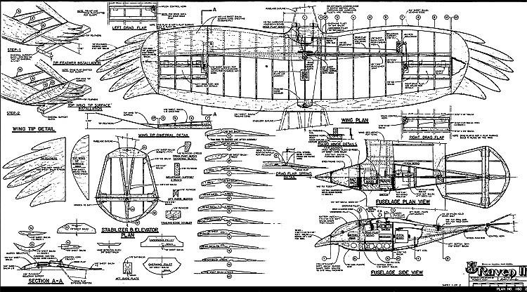 Raven II RCM-1160 model airplane plan