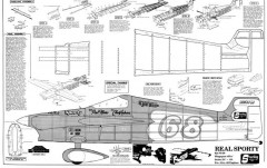 Real Sporty model airplane plan