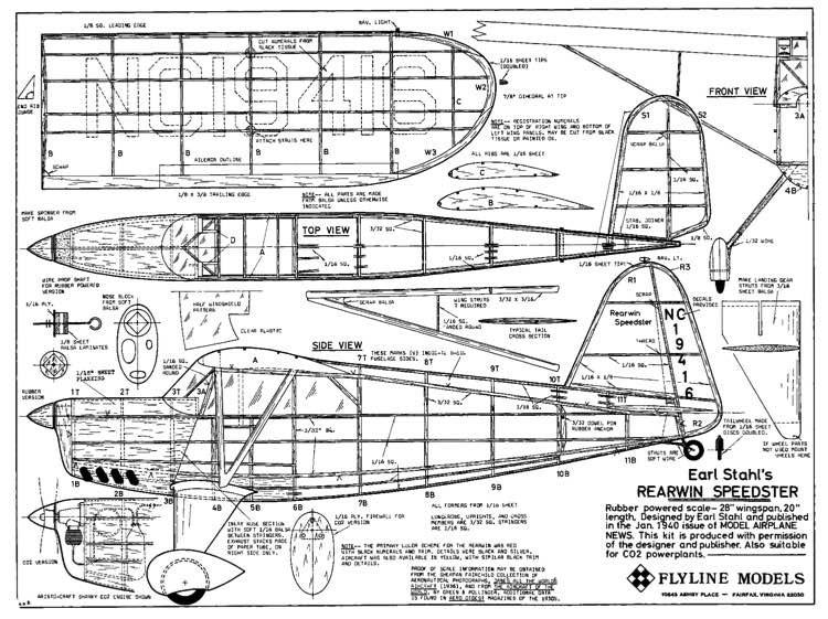 Rearwin model airplane plan