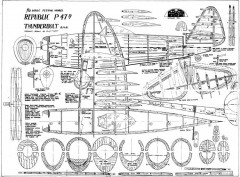 Republic P-47D Thunderbolt model airplane plan