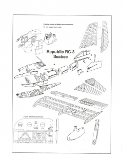 Republic RC-3 SeaBee model airplane plan