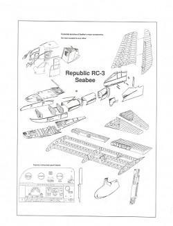 Republic RC-3 SeaBee model airplane plan