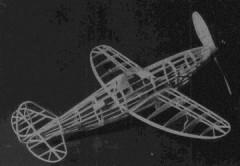 Republic XP-47H model airplane plan