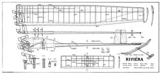 Riviera model airplane plan