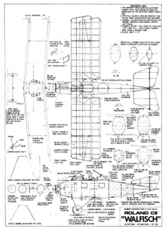 LFG Roland CII Walfisch model airplane plan