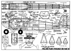 Royal Rudder-Bug model airplane plan