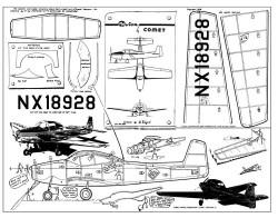 Ryan Navion - Comet kit 3205 model airplane plan