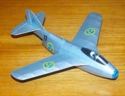 SAAB J-29B Tunnan model airplane plan