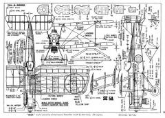 SE5A-1 model airplane plan