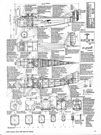 SPAD S VII model airplane plan