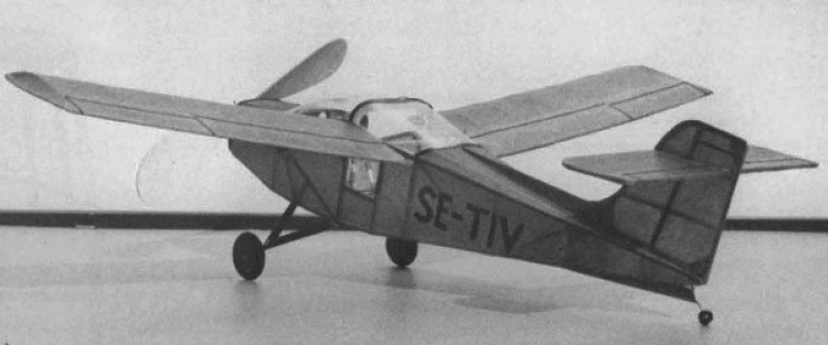 Saab MFI-17 Safari  model airplane plan
