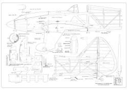 Re.2005 Sagittario model airplane plan