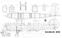 SAIMAN 200 model airplane plan