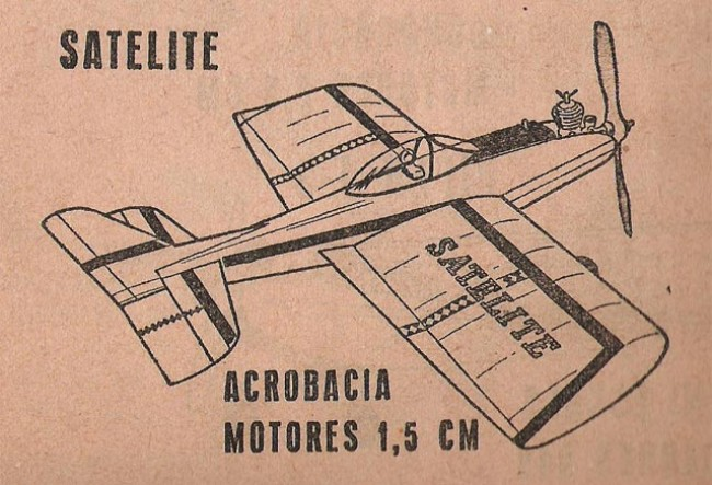 Satelite 09 model airplane plan