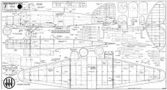 Savoia Marchetti SM81 model airplane plan
