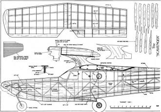Scavenger model airplane plan
