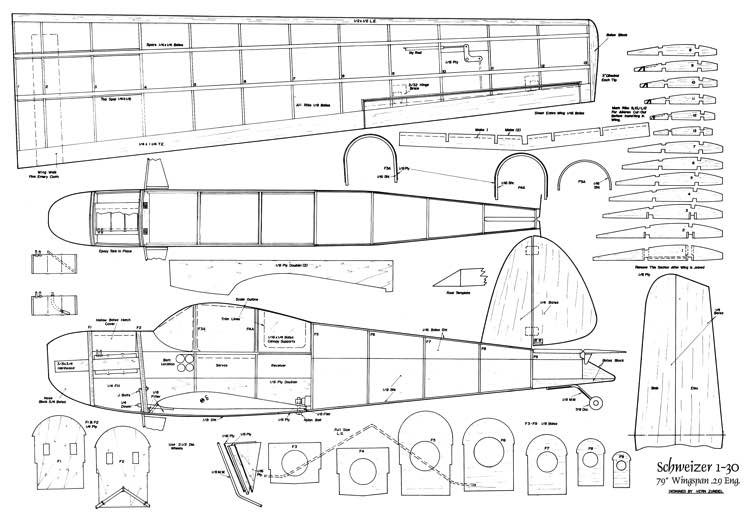 Schweizer-1-30 model airplane plan